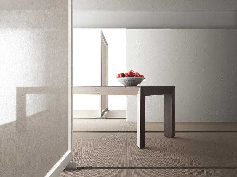 Tavolo allungabile con tecnologia Bauline Perspectiva ambientato chiuso
