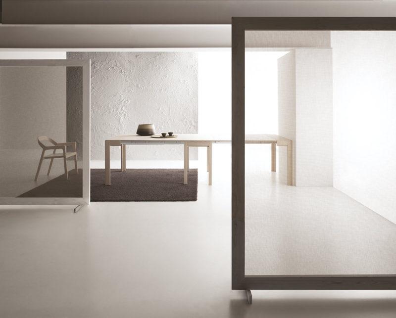 Consolle allungabile con tecnologia Bauline Convivio ambientato aperta