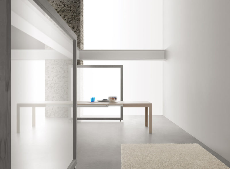 Tavolo allungabile con tecnologia Bauline Edo ambientato aperto