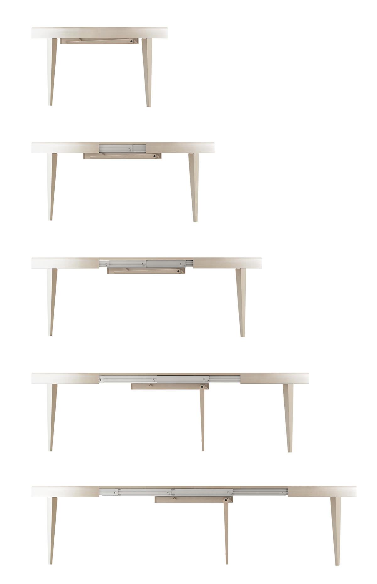Tavolo allungabile rotondo finest tavolo rotondo allungabile spazio alla convivialit tavoli - Tavolo tondo allungabile ikea ...