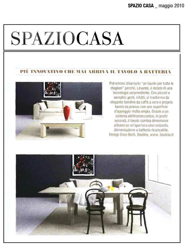 Maggio 2010, Articolo Rivista Spaziocasa
