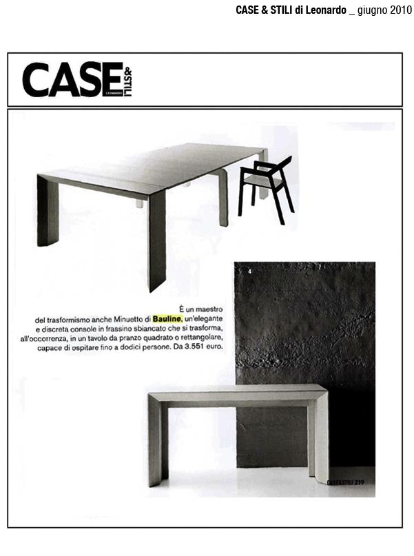 Luglio 2010, Articolo Rivista Case & Stili