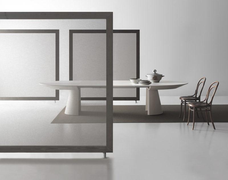 Tavolo allungabile con tecnologia Bauline Adagio ambientato aperto