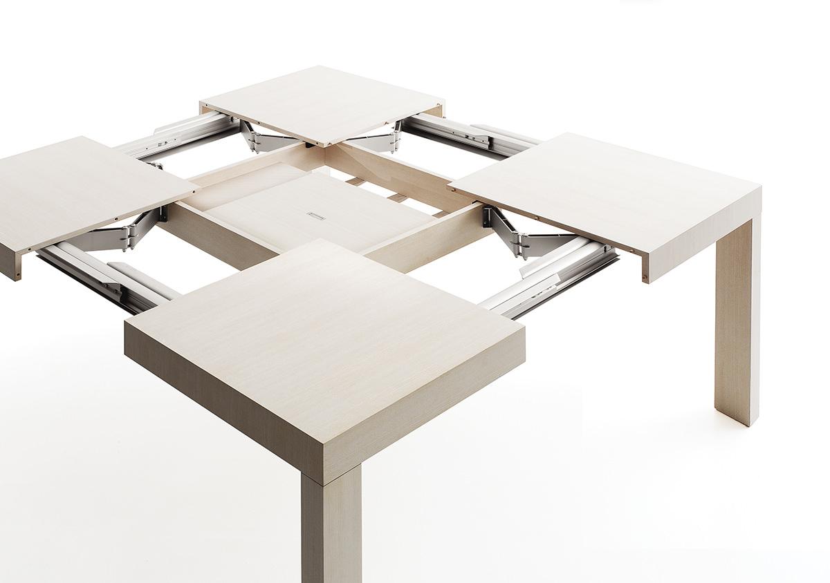 Tavoli Quadrati Di Design.Tavolo Allungabile Quartetto Prodotti Bauline It