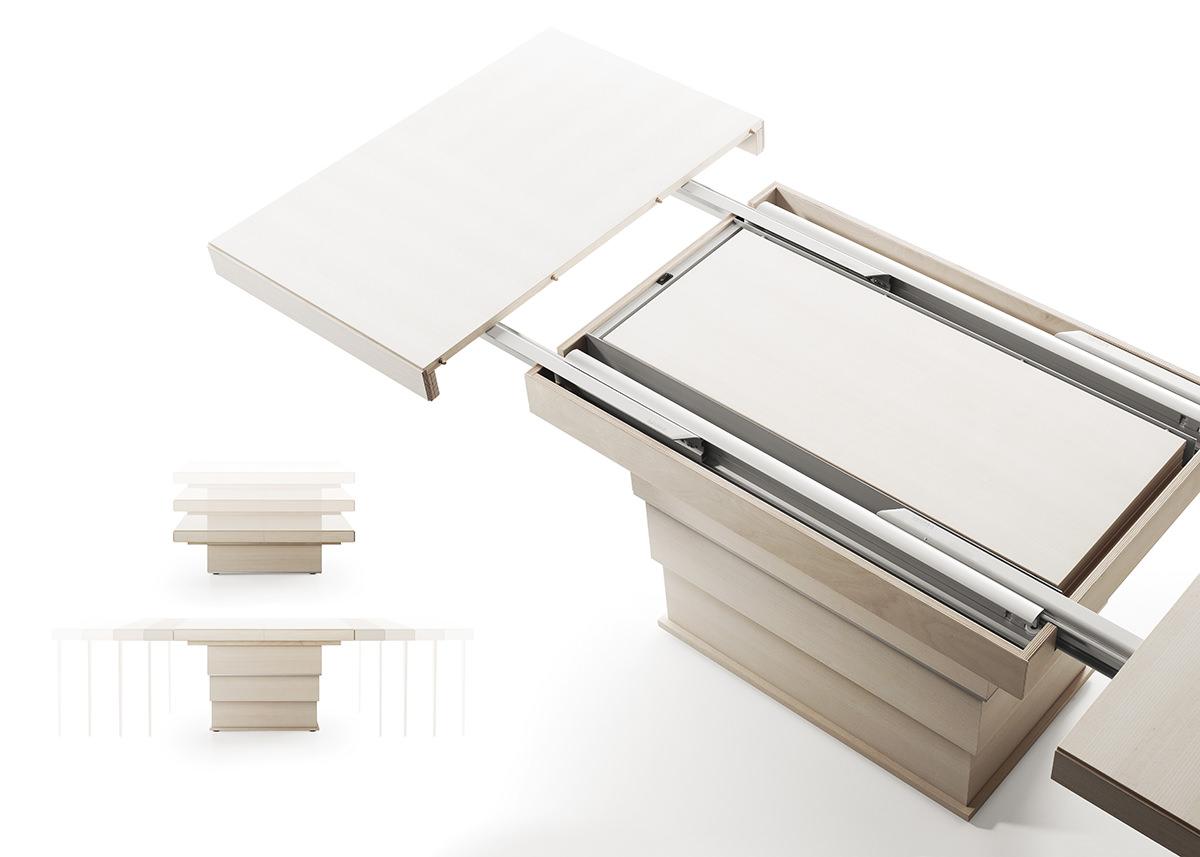 Sistema Per Tavolo Allungabile.Tavolo Allungabile Rebus Prodotti Bauline It