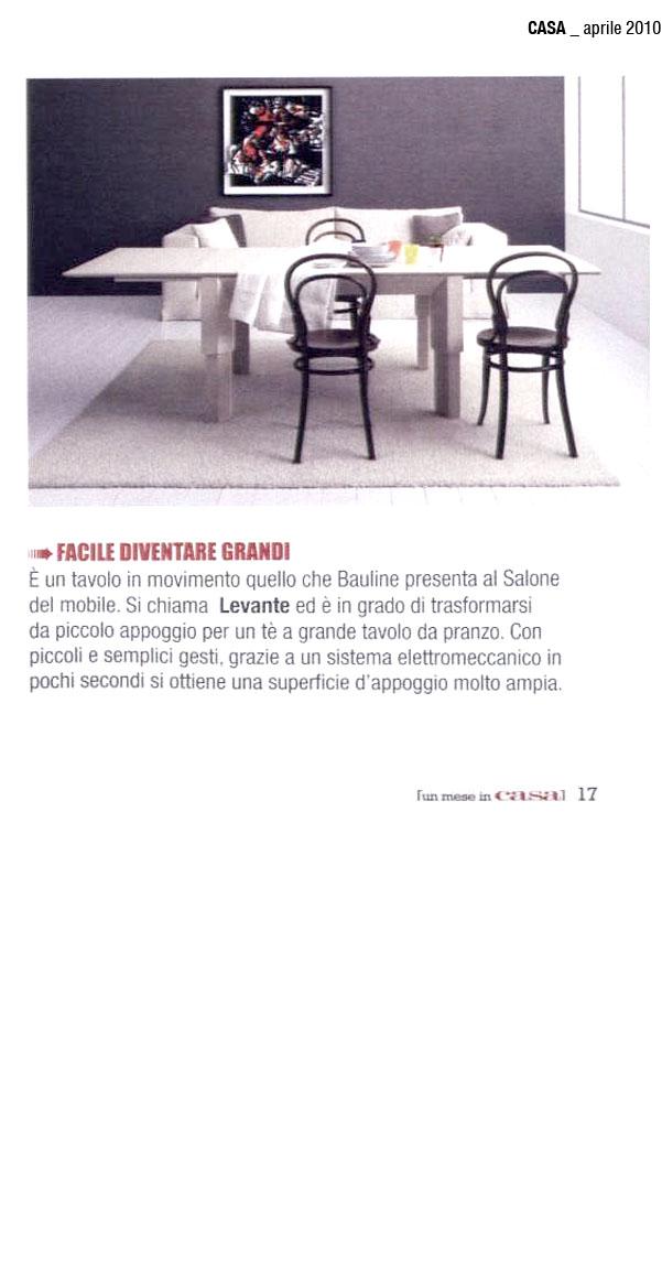 April 2010, Article Un mese in casa Magazine