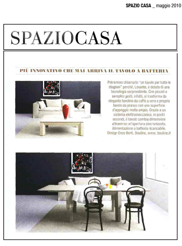May 2010, Article Spaziocasa Magazine